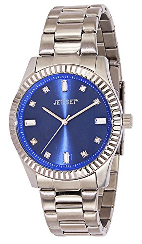 J-Jet Set 59774-332 Cool Women's Quartz Analogue Watch with Silver, Blue Dial Steel Strap