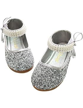 BoBo Angel Zapatos Princesa Para Niñas 4-8 Años Merceditas Brillante Para Danza Fiesta Carnaval Ceremonia