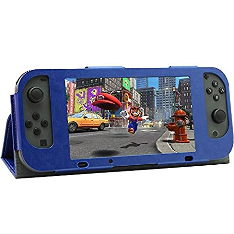 Hot Sale Loveso Ultra Thin Nintendo Switch Leather Case Protector (Blau)