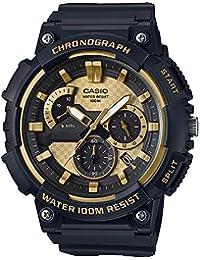 546f9df4d38b Casio Reloj Analogico para Hombre de Cuarzo con Correa en Acero Inoxidable  sólido MCW-200H