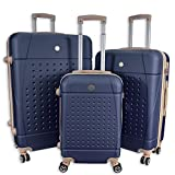 Best Suitcases Sets - Rocklands Lightweight 4 Wheel ABS Hard Shell Luggage Review