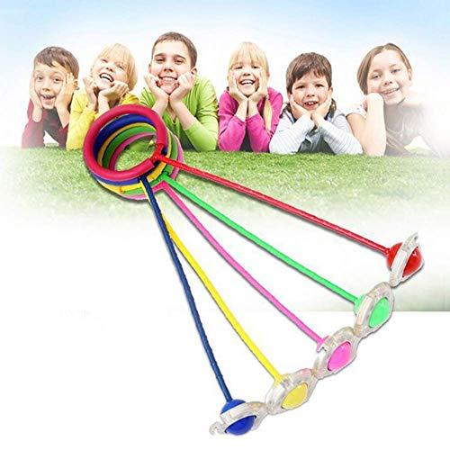 (Porry Blinkender Springender Ball Im Freien Spaß-Spielzeug-Bälle Für Kindersport-Bewegungs-Knöchel-Sprungs-Farbdrehender Ball Kinder 5PCS)