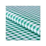 Stoff Meterware, Vichy Karo 5x5 mm, Grün Weiß, Baumwolle,