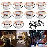 10er Set RGB led Bodeneinbauleuchte IP67 wasserdicht 1W Ø47mm led Einbauleuchte Terrasse Küche Garten Led Lampe