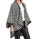 Umlegekragen Hahnentritt Mantel Frauen Mode Langarm Windbreaker Jacke