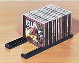 Gedotec Archivierungssystem massiv CD-Halter stabil Ordnungssystem zum Aufräumen | für 23 CDs | CD-Ständer Kunststoff schwarz | 5 Paar