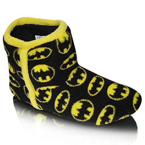 Hombre Magnífico Batman Negro Textil Fleece Caliente Zapatillas Bota EU 46 OPj78Jj