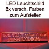 LED Leuchtschild Werbeschild 50x11cm -IHR MOTIV- Tischbild