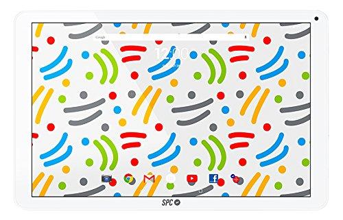 "SPC Glow - Tableta de 10.1"" (Quad Core Cortex A7, memoria interna 8 GB, 1 GB de RAM, IPS HD, Android 6.0) - Blanco"