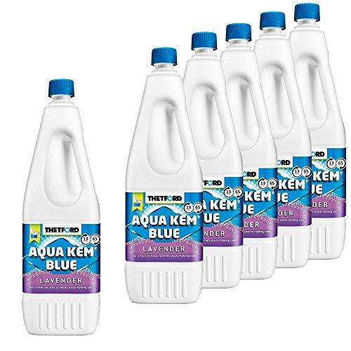 Thetford 6X Sanitärzusatz für Fäkalientank Aqua KEM Blue Lavender 2L mit Lavendelduft
