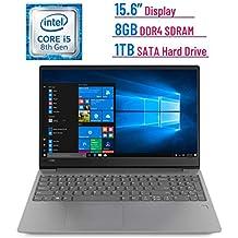 Newest Premium Lenovo IdeaPad 330s 15.6-inch HD Laptop PC (Intel Quad-Core I5-8250U Processor, 8GB DDR4 SDRAM + 16GB Intel Optane Memory, 1TB HDD, Bluetooth, HDMI, Dolby Audio, Windows 10, Grey)