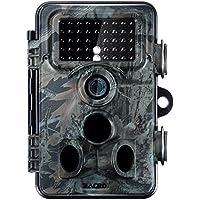Zacro 1080P Full HD Wildlife Trail Tracker Kamera Trap 12MP Infrarot Cam mit Nachtsicht für Outdoor Natur Garten Home Security Surveillance (Full HD)