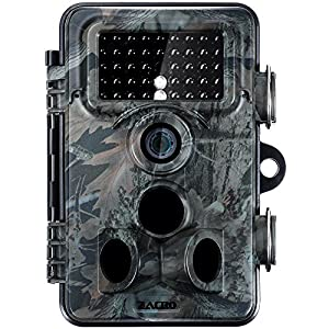 zacro 1080P Full HD Wildlife Trail Tracker Camera Trap 12MP Infrared Cam with Night Vision for Outdoor Nature Garden Home Security Surveillance (FULL HD)
