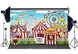 Sunny étoile Parc d'attractions de fond 2,1x 1,5m Vinyle Circus Show toiles de fond Tente de cirque Grande roue Plaisir Sol Dessin animé Photographie Fond pour garçons filles anniversaire Tour tourisme Studio photo Props Yx962