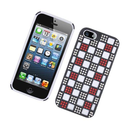 Eagle Handy Case für Apple iPhone 5/5S/SE-Retail Verpackung-Weiß/Schwarz/Rot