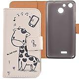 Lankashi PU Flip Leder Tasche Hülle Case Cover Schutz Handy Etui Skin Für Archos 50b Cobalt/Archos 50f Helium/Archos 50f Helium Lite 5