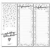 Geburtstagskalender Konfetti-Motiv I Spiralbindung 105 x 297 mm I jahresunabhängig I Dauerkalender für Frauen, WG, Büro die ganze Familie I dv_665