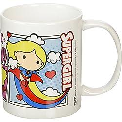 Liga de la Justicia Supergirl Comic Chibi Taza de cerámica, Multicolor