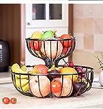 DUDDP Vassoio di Servizio Vassoio di Frutta, Cestino di Frutta Piatto Spuntino Moderna Piatto di Frutta Fruit Basket Doppio Soggiorno casa Candy Snack Coffee Table di stoccaggio Basket