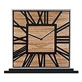 Compact stile marocchino Collection Mirror & Wood free standing, orologio da tavolo 24cm