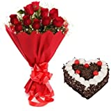 Fresh Flower Bouquet (Bunch of 12 Red Rose) - FFCO0028M