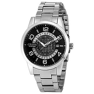 EASTPOLE Herren Mechanische Armbanduhr Automatikuhr Datumsanzeige Edelstahl Uhr PMW499 + EASTPOLE Logo Geschenkbox