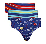#7: Red Rose Boys Cotton Graphic Print Briefs- Pack Of 3 Pc.