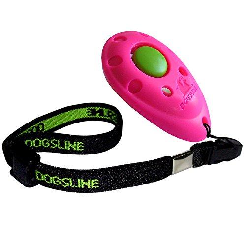 DOGSLINE Profi Clicker mit elastischer Handschlaufe für Clickertraining, pink, DL08PA