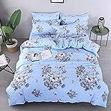 Bettbezug Set Blumen Design 3 Stück Super Weiche und Angenehme Mikrofaser Einfache Bettwäsche Gemütlich Enthalten & Kissenbezug Betten Schlafzimmer