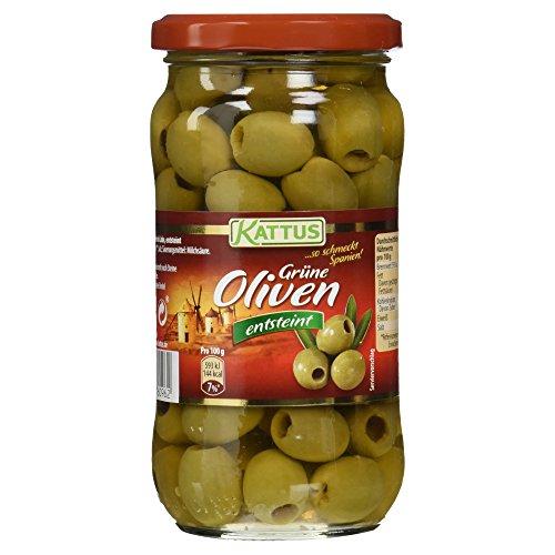 Kattus Spanische grne Oliven, entsteint, 345 g