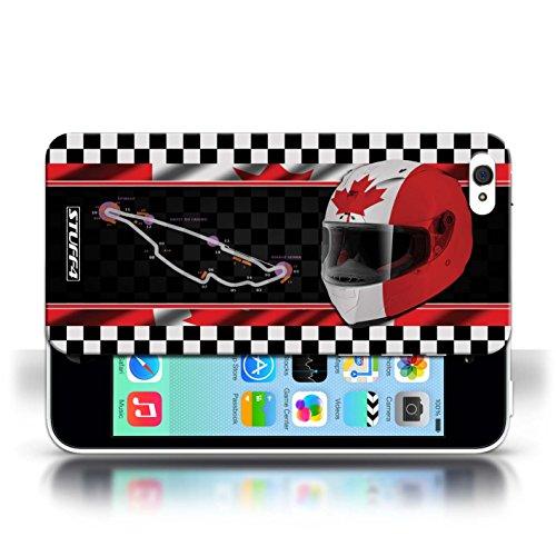 iCHOOSE Print Motif Coque de protection Case / Plastique manchon de telephone Coque pour Apple iPhone 5C / Collection F1 Piste Drapeau / AbuDhabi Canada/Montréal