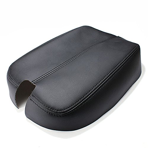 Viviance Black Beige Console Real Leather Car Arm Rest Cover Für Honda Accord - Schwarz