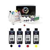 Set de 1L tintas con CISS sistema de alimentación continua de 'cartuchos de tinta para Epson 1291, 1292, 1293, 1294, WorkForce WF-3010DW