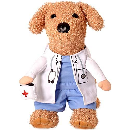 Lustiger Hund Katze Kostüme Boxer, Arzt, Krankenschwester Cosplay Anzug Haustierkleidung Halloween Uniform Kleidung für Welpen Hunde Kostüm für eine Katze M Arzt