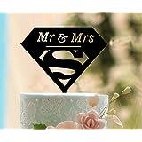 shinybeauty® cake-topper Señor y señora, Funny Supermen decoración para tarta para, romántico decoración para tarta para