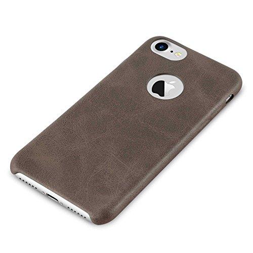 Cadorabo – Retro Kunstleder Hard Cover Slim Case für >               Apple iPhone 8 / 7 / 7S               < - Case Cover Schutz-hülle in VINTAGE-SCHWARZ VINTAGE-BRAUN