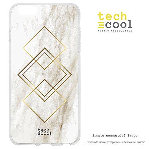 Funnytech LeEco Le Max 2 Hülle SchutzHülle Soft TPU Silikon Transparent für LeEco Le Max 2 l Case, Cover, Handy, High Definition Druck [Diseño texturas marmol vers.1]