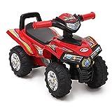 ATV Rutschauto 551 ab 1 Jahr mit Musikfunktion, Hupe, Quad Design (Rot)