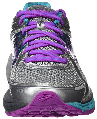 Brooks Adrenaline Gts 17, Chaussures de Course Femme Multicolore (Silver/purplecactusflower/bluebird)