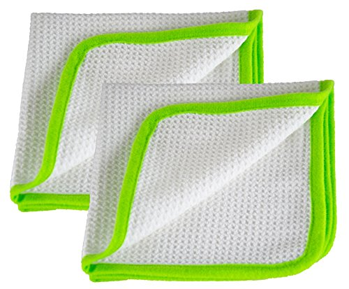 Preisvergleich Produktbild Liquid Elements 2X Streak Buster Scheibenreinigungs-Tuch 400 GSM 35 x 35 cm