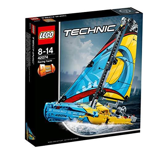 LEGO Technic - Barco de Competición, Juguete de Construcción 2 en 1 (42074)