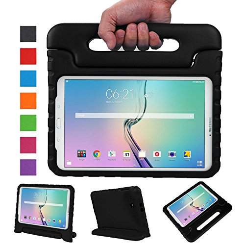 NEWSTYLE Samsung Galaxy Tab E 9.6 Zoll Hülle Eva Stoßfeste Schutzhülle Tragbar für Kinder mit Ständer Schutzhülle Standfunktion für Samsung Tab E SM-T560/SM-T561 9.6 Zoll Tablet,- Schwarz