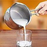 MXueei ZfgG Vaso per Il Latte in Acciaio Inox, Salsa al Burro E Scaldavivande, Pentola per La Cottura del Piatto