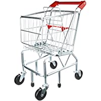 Melissa & Doug Shopping Trolley With Sturdy Metal Frame