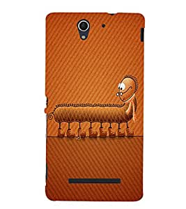 Caterpillar Back Case Cover for Sony Xperia C3 Dual D2502::Sony Xperia C3 D2533