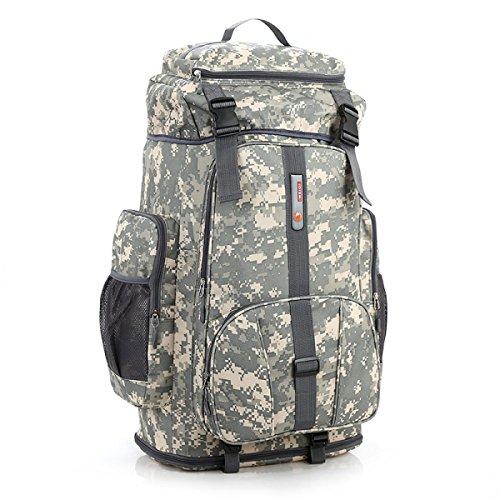 Tarnung Im Freien Rucksack Klettern Tasche 80L Erweitern 100L Groß Kapazität ACUcamouflage