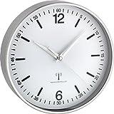 TFA Aluminium Funk-Wanduhr, weiß, 19.5x4.5x19.5 cm