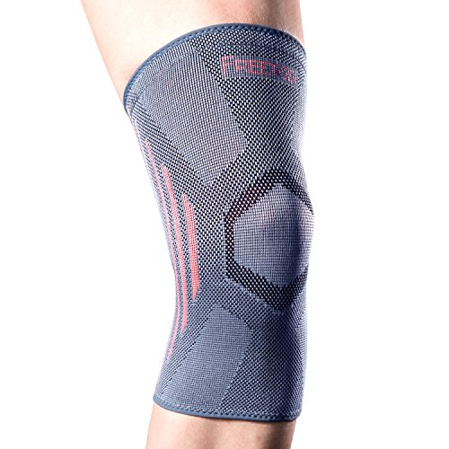 FREETOO Knee Sleeve Compression Support Brace Anti Slip Pain Relief for Arthritis Running Weightlifting Crossfit XL Test
