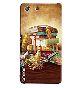 Omnam Booked Painted One On Each Other Printed Back Cover Case For Sony Xperia M5