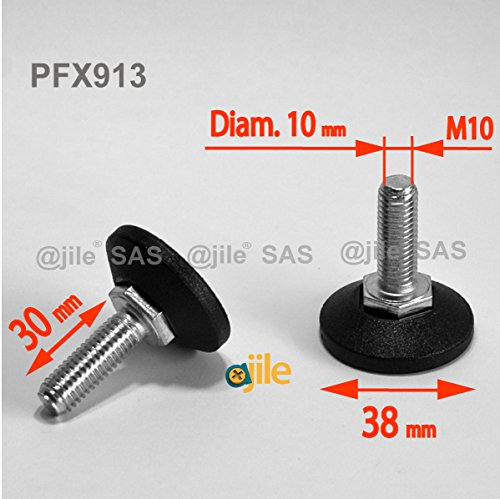 ajile-1-pieza-pie-nivelador-ajustable-con-base-redonda-rosca-diametro-10-mm-m10-largo-30-mm-acero-ga